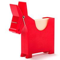 Блок для записей с держателем Monkey Business Morris красный, фото