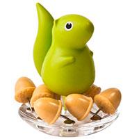 Подставка для кнопок Qualy Squirrel and Acorn, фото