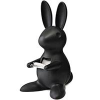 Диспенсер для скотча Qualy Desk Bunny черного цвета, фото