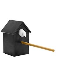 Точилка для карандашей Qualy Cuckoo черная с белым, фото