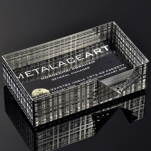Коробка Metalace ажурная для визиток , фото