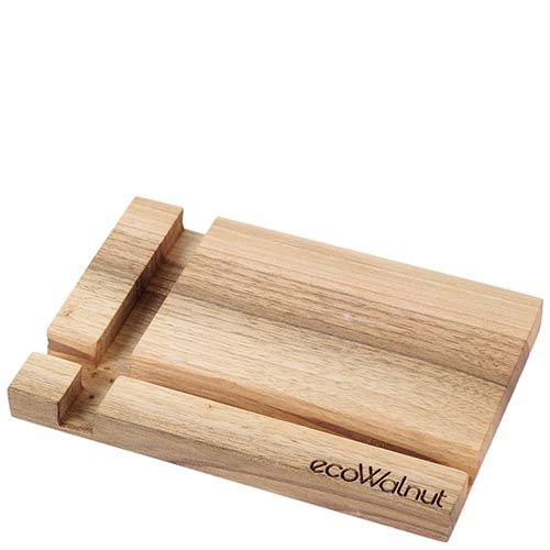 Прямоугольная деревянная подставка под смартфон Ecowalnut, фото