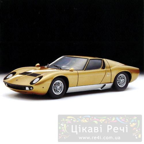 LAMBORGHINI  Miura P400 Gold 1:18, фото