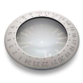 Лупа с мировыми часовыми поясами, фото