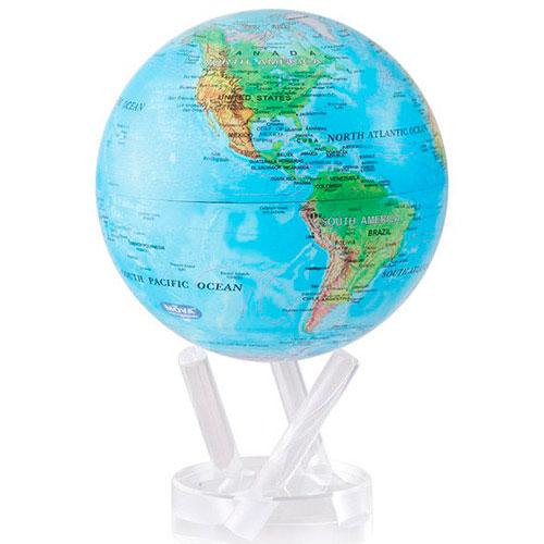Самовращающийся глобус Mova Globe Физическая карта