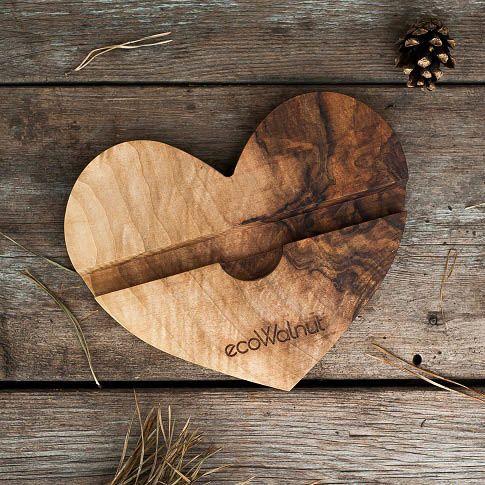 Подставка под телефон в форме сердца Ecowalnut