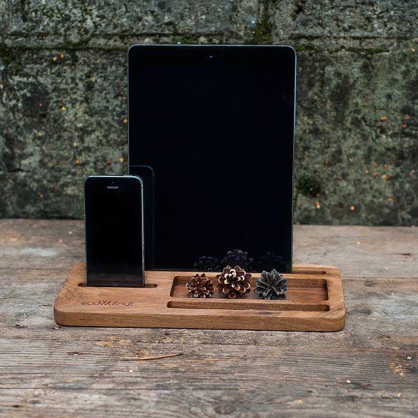 Подставка под планшет и смартфон Ecowalnut из дерева для офиса