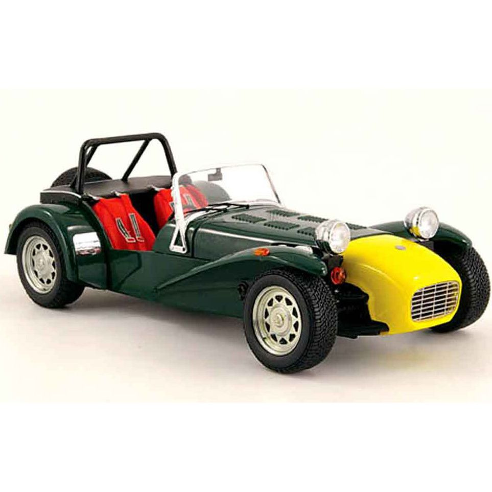 Коллекционная модель Kyosho 1:18 Caterham Super 7 Green Yellow Nose