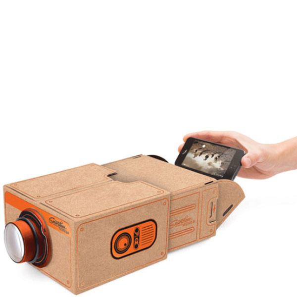 Бежевый проектор для телефона Luckies