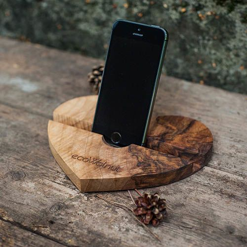 Подставка под телефон в форме сердца Ecowalnut, фото