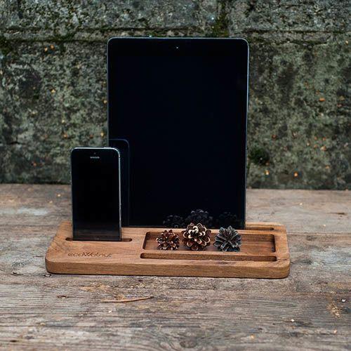 Подставка под планшет и смартфон Ecowalnut из дерева для офиса, фото
