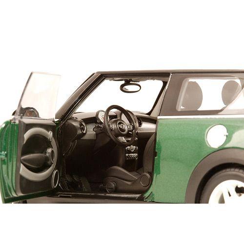 Коллекционная модель Kyosho 1:18 BMW Mini Cooper S (R56) Green w/White Stripe, фото