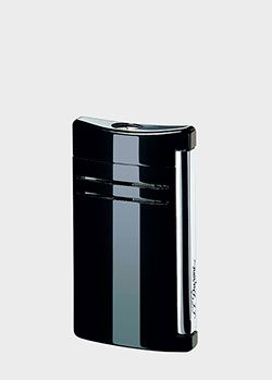 Глянцевая зажигалка S.T.Dupont Maxijet черного цвета, фото