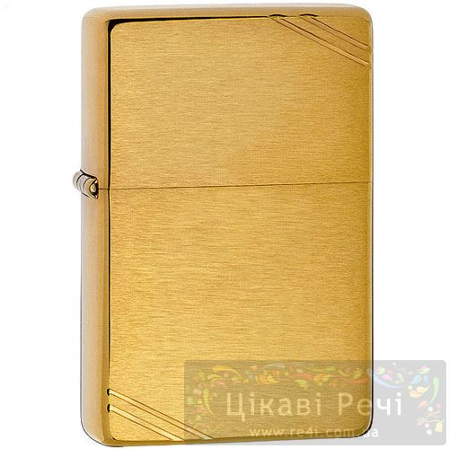 Зажигалка Vintage Brushed Fin Brass, фото