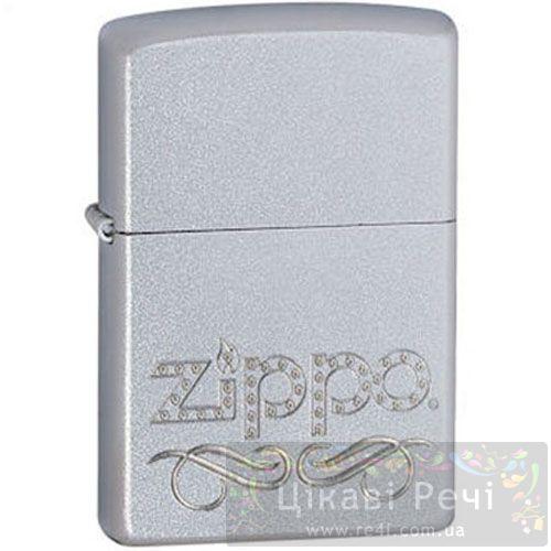 Зажигалка Zippo Scroll Satin Chrome, фото