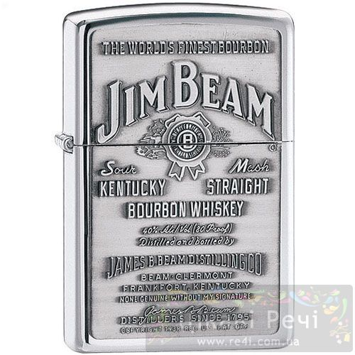Зажигалка Jim Beam Pewter Emblem, фото