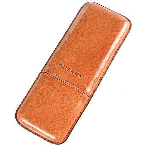 Кожаный футляр Waterman для трех сигар , фото
