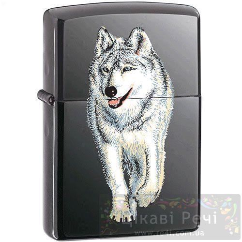 Зажигалка Wolf Black Ice, фото