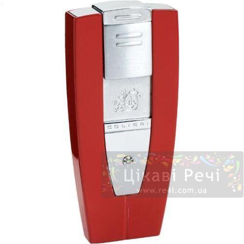 Зажигалка Solitaire красная с бриллиантом, фото
