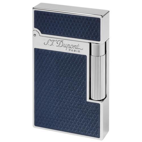 Зажигалка S.T.Dupont Ligne 2 синего цвета, фото