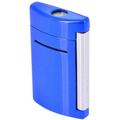 Зажигалка S.T.Dupont Minijet синего цвета, фото