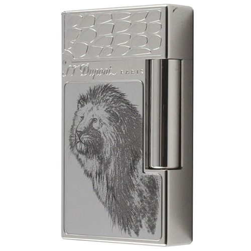 Зажигалка S.T.Dupont Elephant Lighter с изображением льва, фото