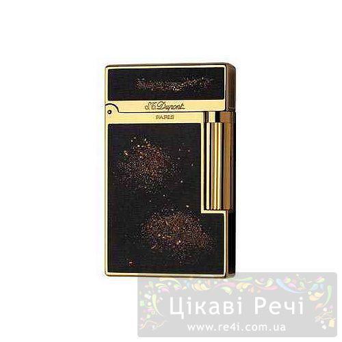 Зажигалка позолоченная с китайским лаком Gold dust, фото