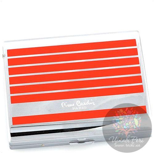 Портсигар Pierre Cardin с покрытием полосами красным лаком, фото