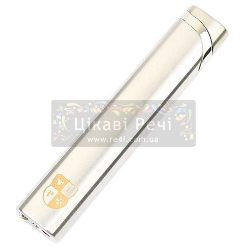 Газовая зажигалка с пьезомеханизмом Aurora с серебром, фото