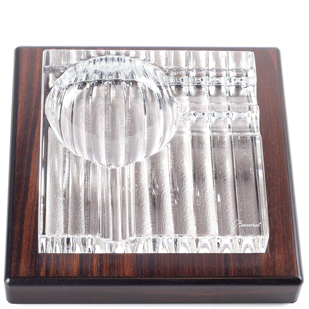 Хрустальная пепельница для сигар Baccarat Havana Macasar из двух предметов