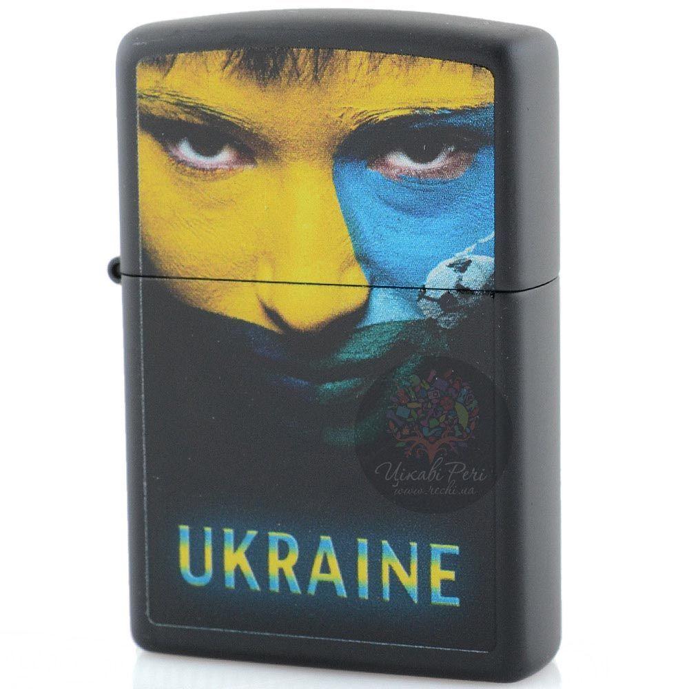 Зажигалка Zippo Ukraine с портретом в желтом и голубом цветах