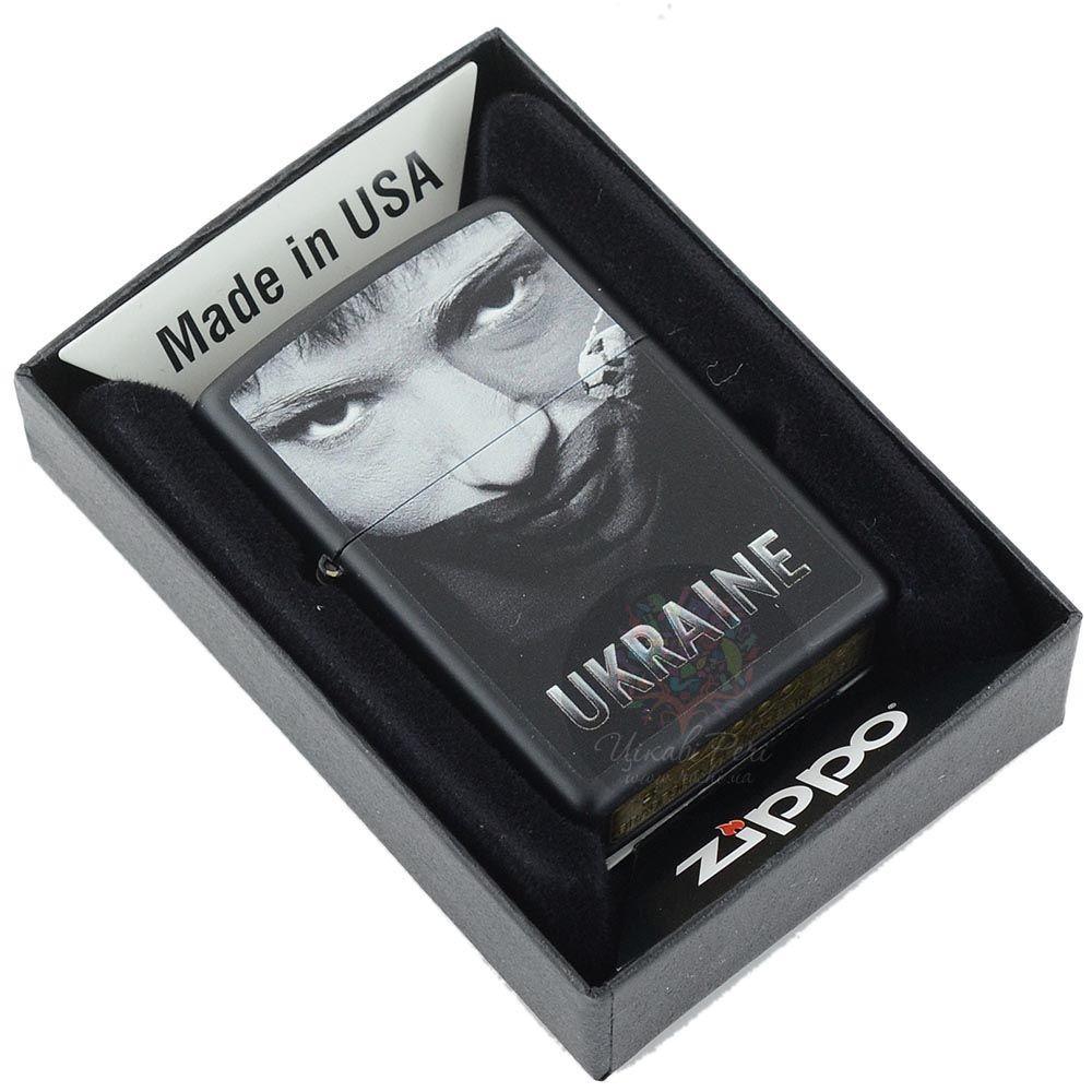 Зажигалка Zippo Ukraine с черно-белым портретом