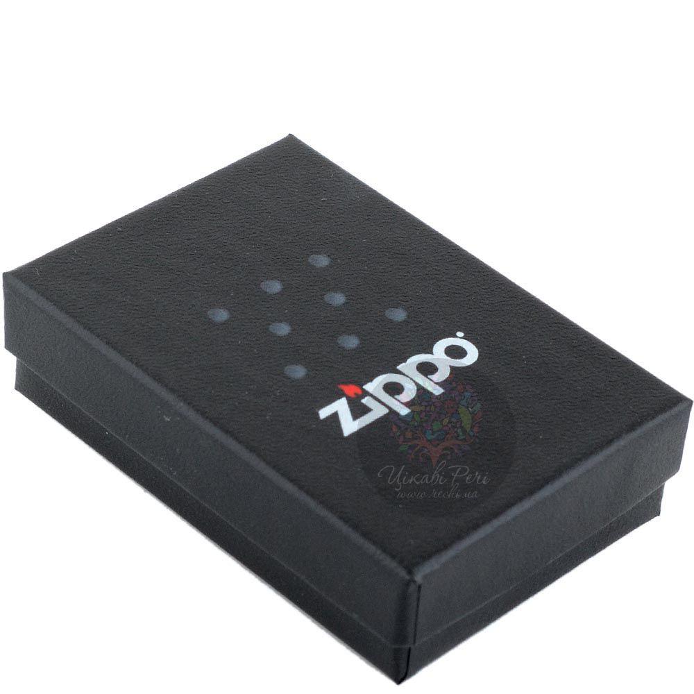 Зажигалка Zippo темно-синяя с гербом Украины