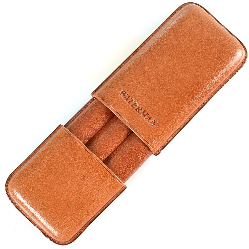 Кожаный футляр Waterman для трех сигар