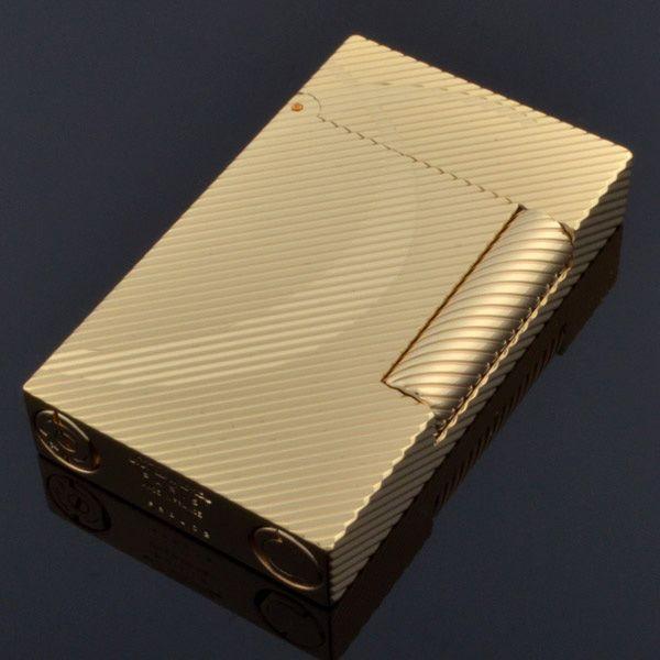 Зажигалка S.T.Dupont LIGNE 2 D-Line в желтом золоте