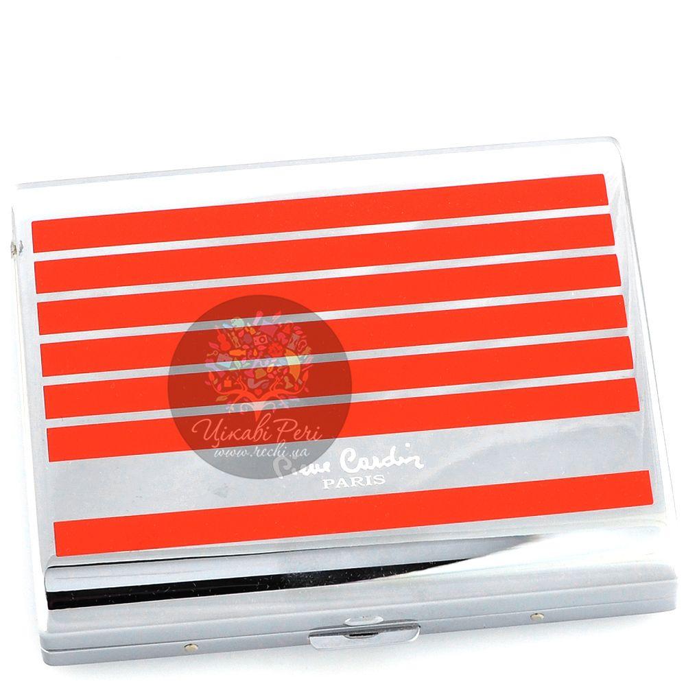Портсигар Pierre Cardin с покрытием полосами красным лаком