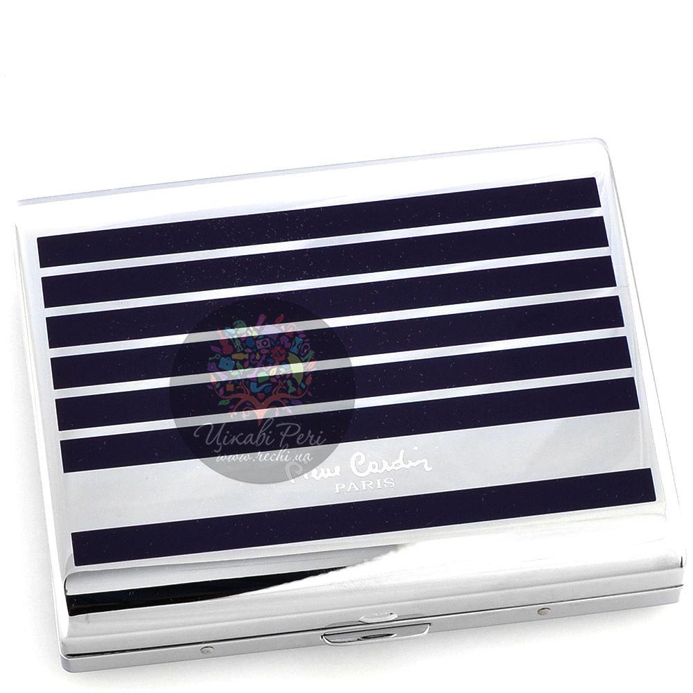 Портсигар Pierre Cardin с покрытием полосами темно-синим лаком