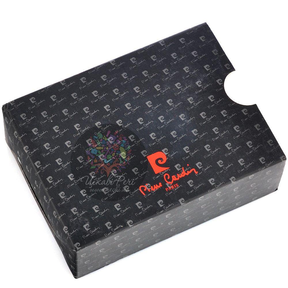 Портсигар Pierre Cardin с шахматным узором черным лаком