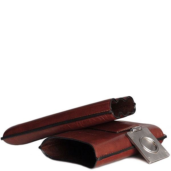 Футляр Piquadro Linea Tamponato для трех сигар с гильотиной