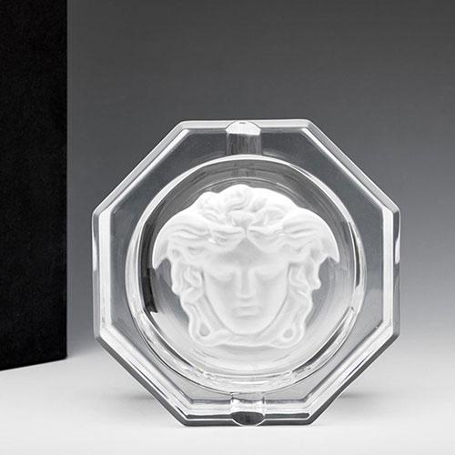 Пепельница Rosenthal Versace Medusa Lumiere из хрусталя, фото