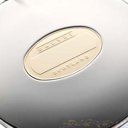 Фляга Dalvey стальная с позолоченной шильдой 125мл, фото