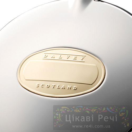 Фляга Dalvey стальная компактная с позолоченной шильдой 75мл, фото