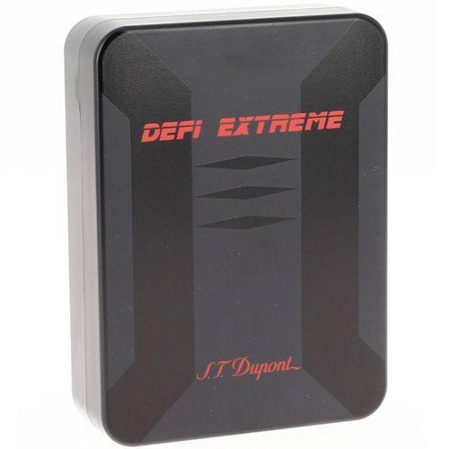 Зажигалка S.T.Dupont Defi Extreme хромированная и в черном лаке, фото