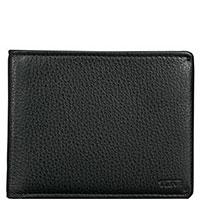 Черное портмоне Tumi Nassau из зернистой кожи, фото