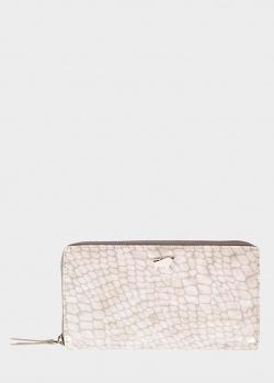 Кожаный кошелек Braun Bueffel Alma с тиснением под рептилию, фото