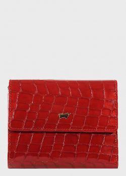 Красное портмоне Braun Bueffel Verona с крокодиловым принтом, фото