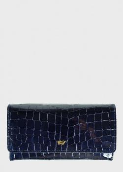 Женский синий кошелек Braun Bueffel Verona из лакированной кожи, фото