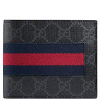 Портмоне Gucci Supreme серого цвета, фото