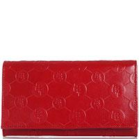 Кошелек Ferre Collezioni красного цвета с тиснением, фото