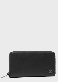 Кошелек на молнии Calvin Klein черного цвета, фото